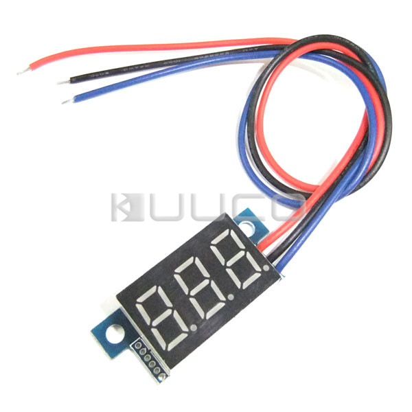 DC Volt Meter DC 0.00V~30.0V Voltmeter Yellow Led display Digital Meter/Panel Meter DC 12V 24V Voltage Meter/Monitor/Tester