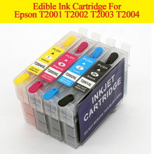 hot deal buy 4pcs for epson t2001xl-t2004xl edible ink cartridge for epsonxp-410 xp-300 xp-310 xp-400 xp-200 wf-2540 wf-2530 wf-2520 printers