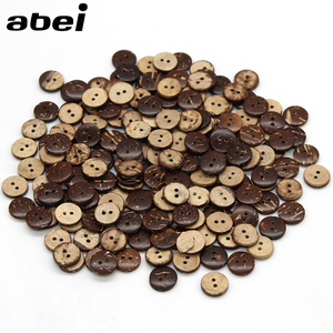 100pcs/lot 11mm Natural Coconut Buttons Diy Sewing Garment Accessories Wooden Flatback button for Scrapbooking Decoration