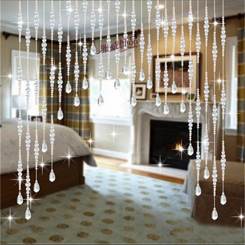 10pcs 1 Meters Diy Glass Crystal Beads Curtain Window Door Curtain