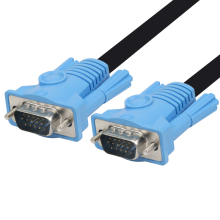 лучшая цена GCX Cable VGA to VGA Cord High Quality Full HD 1920*1080P Male to Male Computer Cable VGA Cable 1.5m 3m 5m 10m 15m 20m 25m 30m