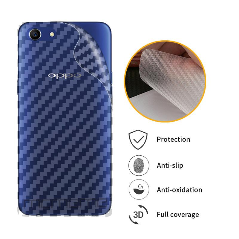 3D Carbon Fiber Protective Back Film For OPPO A1 A71 A83 A3 A9 A9X A77 F5 Youth F7 Back Screen Protector Film Sticker image