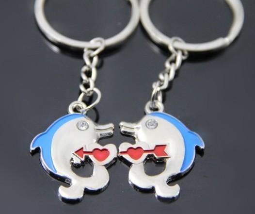 Pequeño regalo delfines cadena dominante de los pares accesorios logo