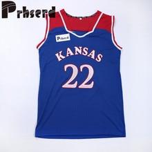0745aea9dc0a Kansas Jayhawks College Basketball Jerseys  22 Andrew Wiggins University  Blue White Stitched Jerseys