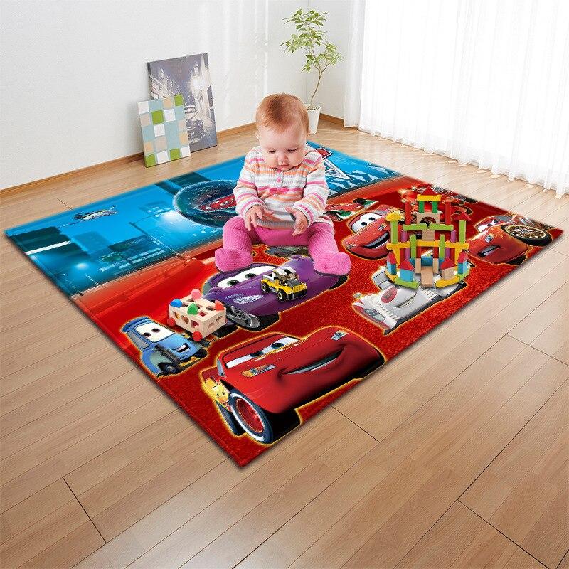 3D bande dessinée jouet voiture fleur terre labyrinthe couleur impression tapis dans la pépinière enfants tapis anti-dérapant tapis pour salon couverture ronde