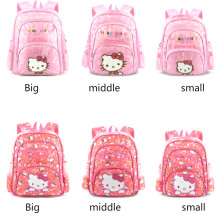 Kindergarten school bag kitty cute backpack childrens Korean Bagpack hello Schoolbag
