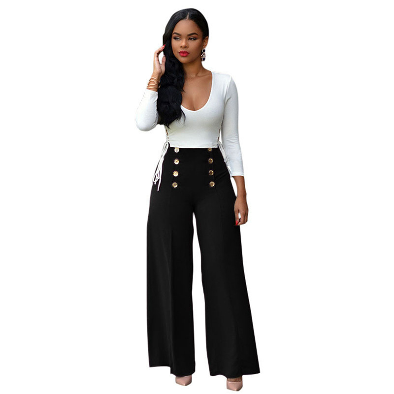 2018 New Pattern Fashion Sexy Multicolor Bandage Directly Leg women   Pants     capris