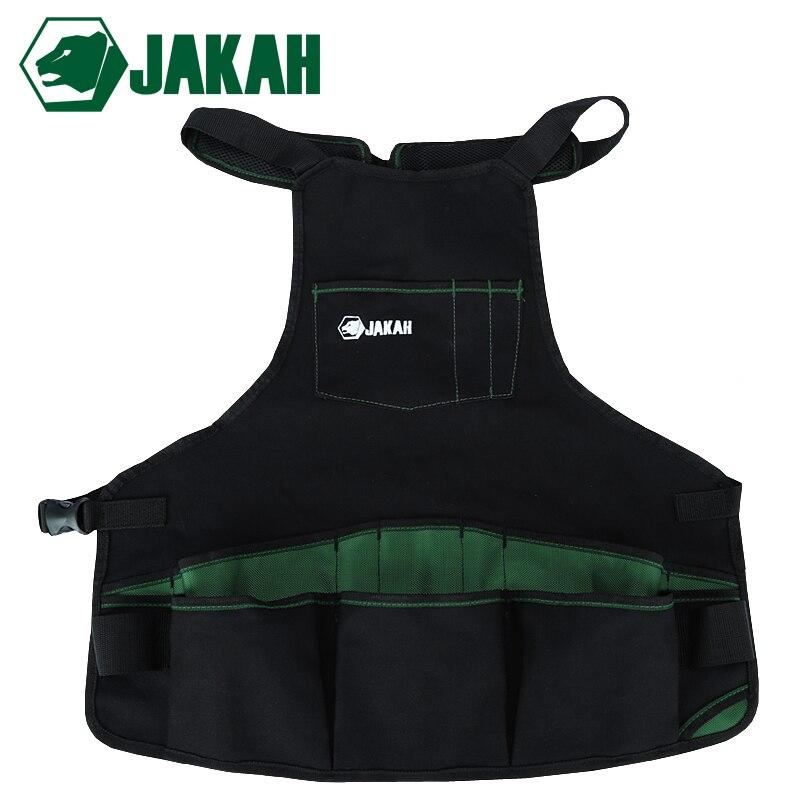 JAKAH 1680D Oxford Cloth Multifunctional Apron Garden Tools Packet Apron Hardware Tools Storage Bag