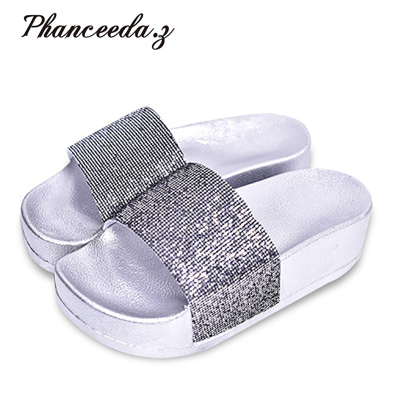New 2018 Shoes Woman Sandals Wedges Lovely Jelly Shoes Solid Casual Slippers Summer Style Fashion Slides Flats Free Shipping phyanic 2017 gladiator sandals gold silver shoes woman summer platform wedges glitters creepers casual women shoes phy3323