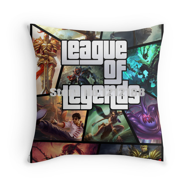 Free Shipping League Of Legends Gta Poster Decorative Pillowcase 16 18 20 24 Inch Pillow Cases
