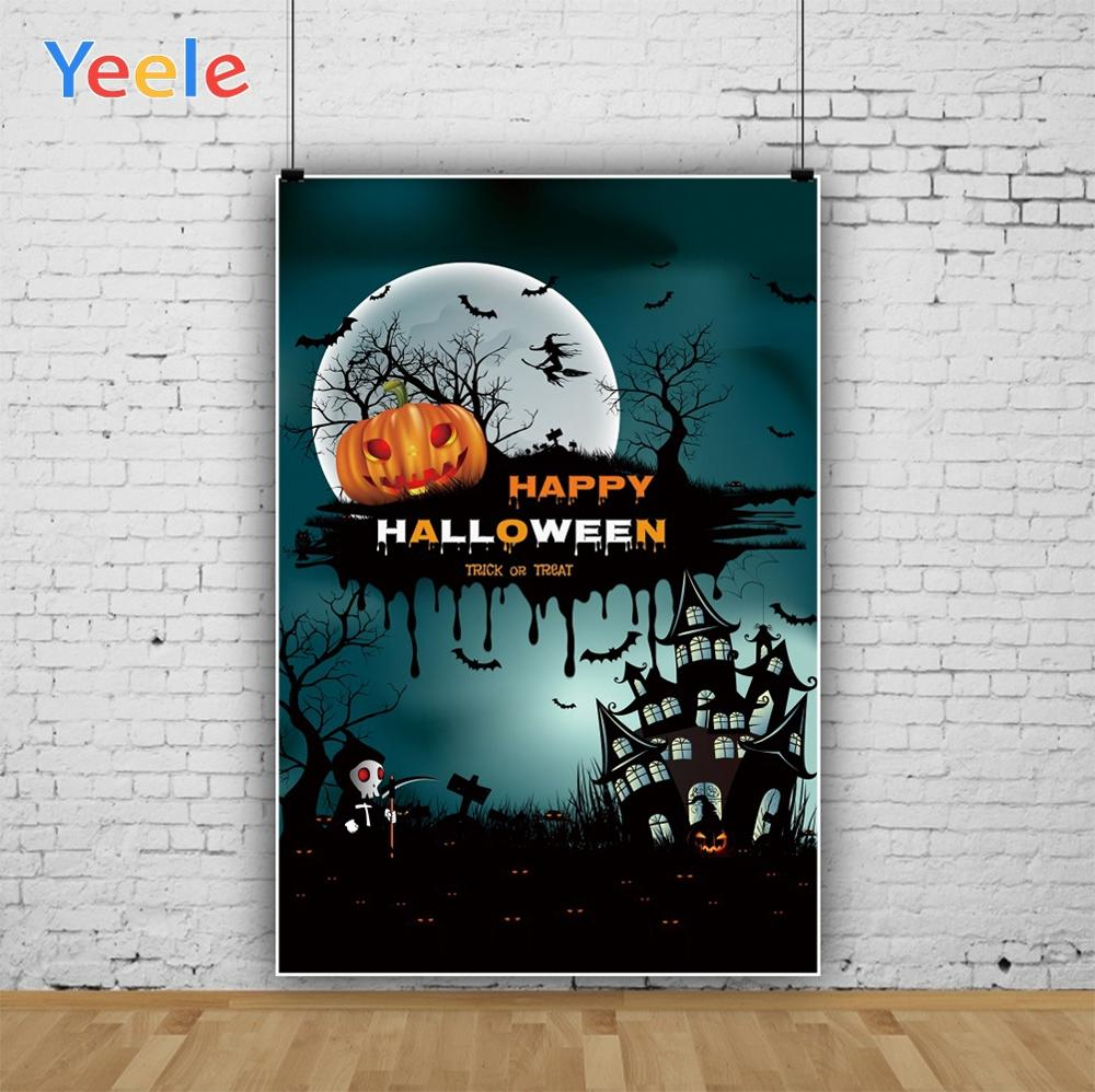 Yeele Halloween Party Decor Pumpkin Castle Cross Photography Backdrops Personalized Photographic Backgrounds For Photo Studio in Background from Consumer Electronics