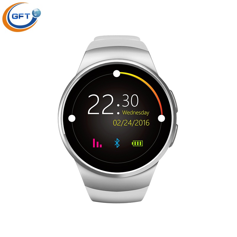GFT KW18 Smart Watch 1 3 Inch IPS Round Screen Support Heart Rate Monitor Bluetooth font
