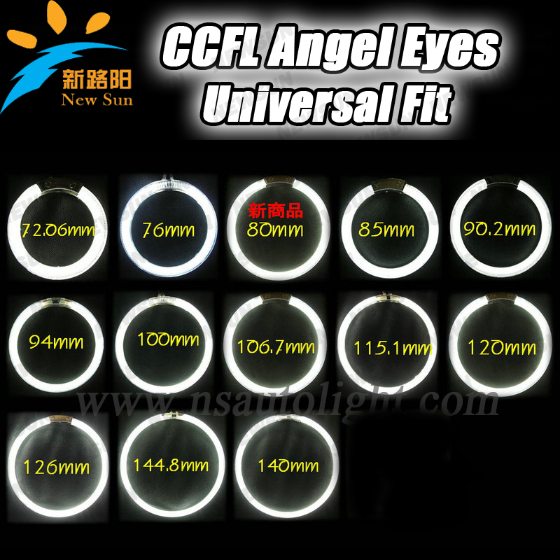 Free Shipping 4pcs per set CCFL angel eyes headlight halo ring 110mm 115mm colorful angel eyes