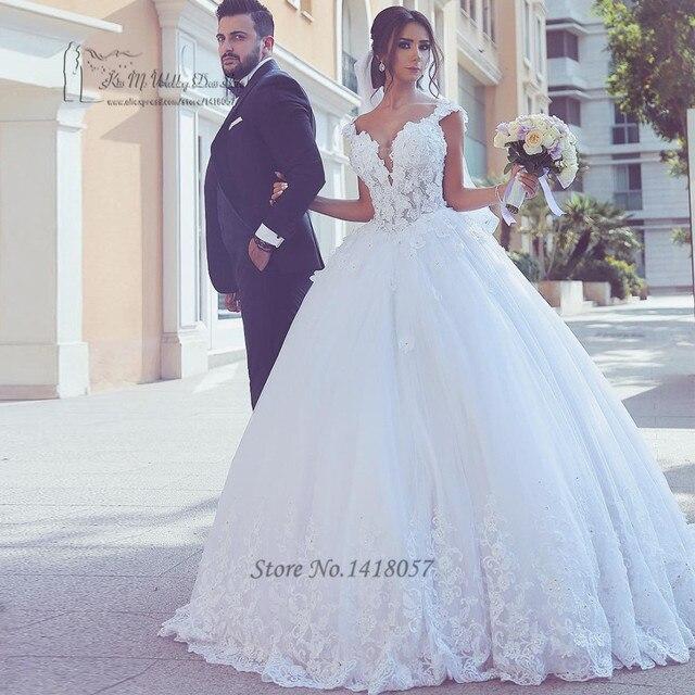 18b500fb49 Arabski Suknie Bride 2017 Koronki Vestido De Noiva Plus Size Suknie