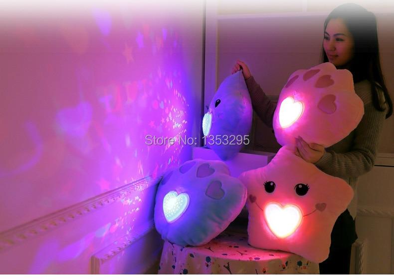 Knuffel Met Licht : Nieuwe i love u kleurrijke led verlichting kussen licht