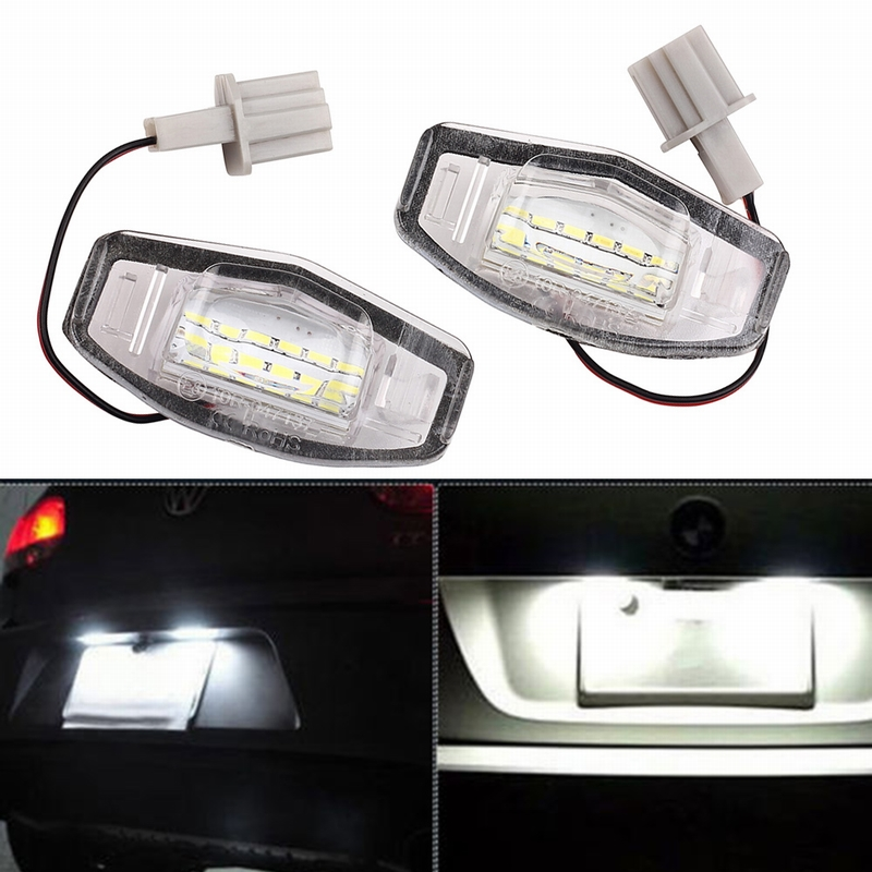 MALUOKASA 2Pcs LED SMD Number License Plate Light Lamp For Honda Civic Coupe EM2 Sedan ES7 Accord Odyssey Acura TSX/TL/RDX/MDX новый генератор подходит для honda accord odyssey 2 3l f20b 2 0l oem 31100 p5m 0030