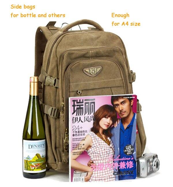 Man's Canvas Backpack Travel Schoolbag Male Backpack Men Large Capacity Rucksack Shoulder School Bag Mochila Escolar 10