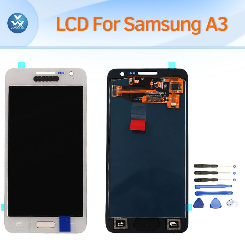 Lcd Display Touch Digitizer Assembly For Samsung Galaxy A3 2015 Lcd Screen A300 A300H A300X A300F Replacement With Home Button brand new lcd for samsung galaxy a3 a3000 a300 a300x a300f screen display with touch digitizer assembly