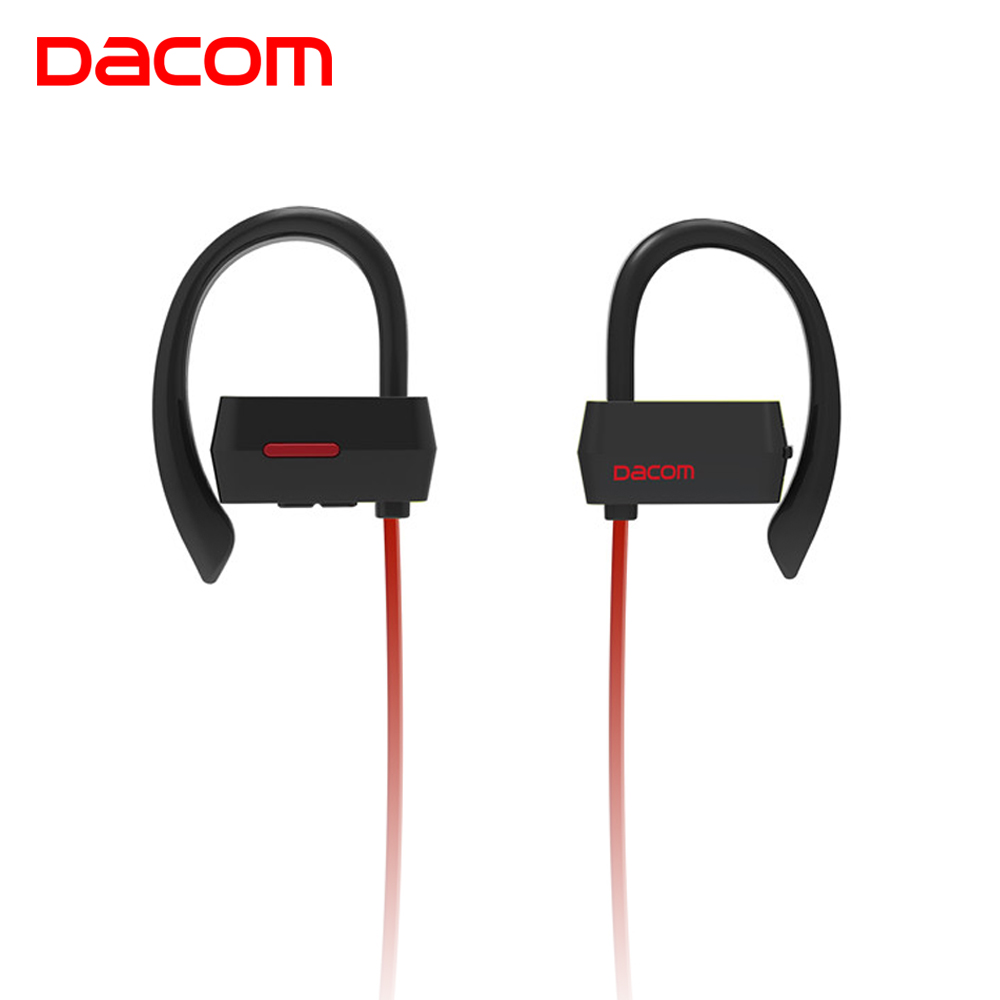 DACOM 2018 Bluetooth Earphone Sport Wireless Headset Headphone IPX4 Waterproof Stereo Bass Earpiece with Microphone for Samsung