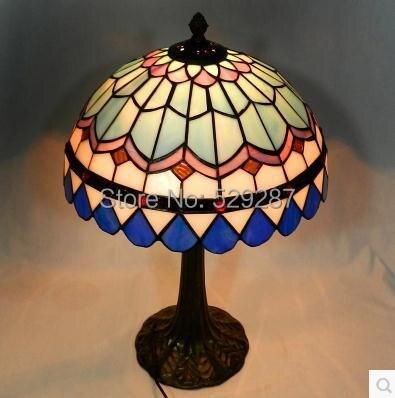 Escritorio Tiffany lmparas Europea vidrio color LED lmpara 120 240