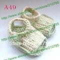 Zapatos del niño del Bebé del ganchillo del bebé tejida a mano Ocio sandalias 0-12 meses zapatos Lindos Libre 100 par/lote