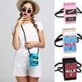 2017 High quality Brand Fresh Cute Women Shoulder Messenger Bags Stereo Milk Box Canvas Women Shoulder Bags Bolsa Feminina