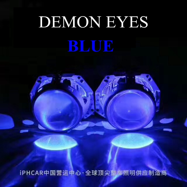 2pcs Purple blue red green LED demon eyes for Bixenon projector lens hella5 q5 2.5inch and 3.0inch Headlight  Angel Devil Demon вешалка sheffilton стандарт 1 4 серебро перлато серый 3 штуки