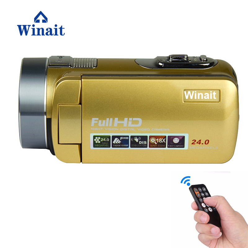 Winait 2017 hot sale anti shake digital video camera with beauty face smile capture remoter control nigh vision