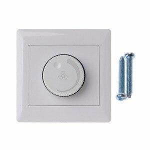 Image 1 - Regulacja przełącznik kontroli prędkości wentylatora sufitowego przycisk ścienny wyłącznik ściemniacza 220V 10A