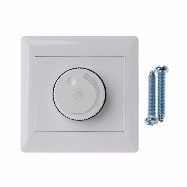 Regulacja przełącznik kontroli prędkości wentylatora sufitowego przycisk ścienny wyłącznik ściemniacza 220V 10A