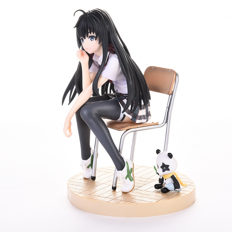 6 Anime My Teen Romantic Comedy SNAFU Yukinoshita Yukino Boxed 14cm PVC Action Figure Collection Model Doll Toy