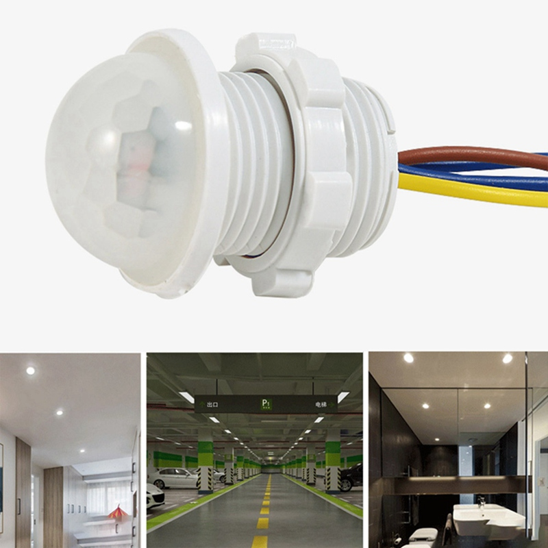 PIR Switch 50/60HZ Infrared Motion Sensor Automatic Light Lamp Holder Switch Intelligent Light Motion Sensing Switch