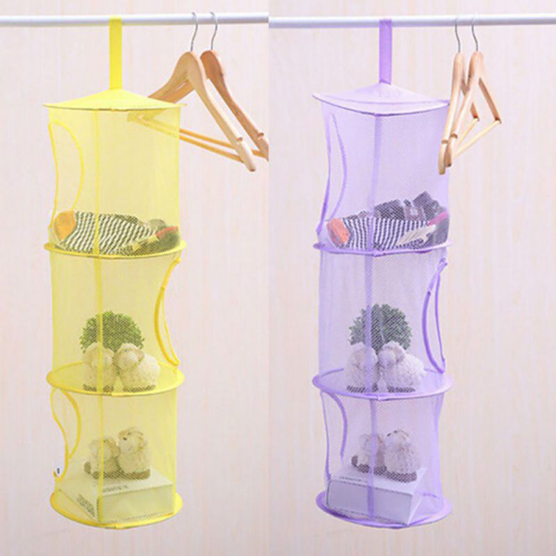 Shelf Hanging Organizer Storage Net Kids Toy Bedroom Wall Door Closet Organizers Bag