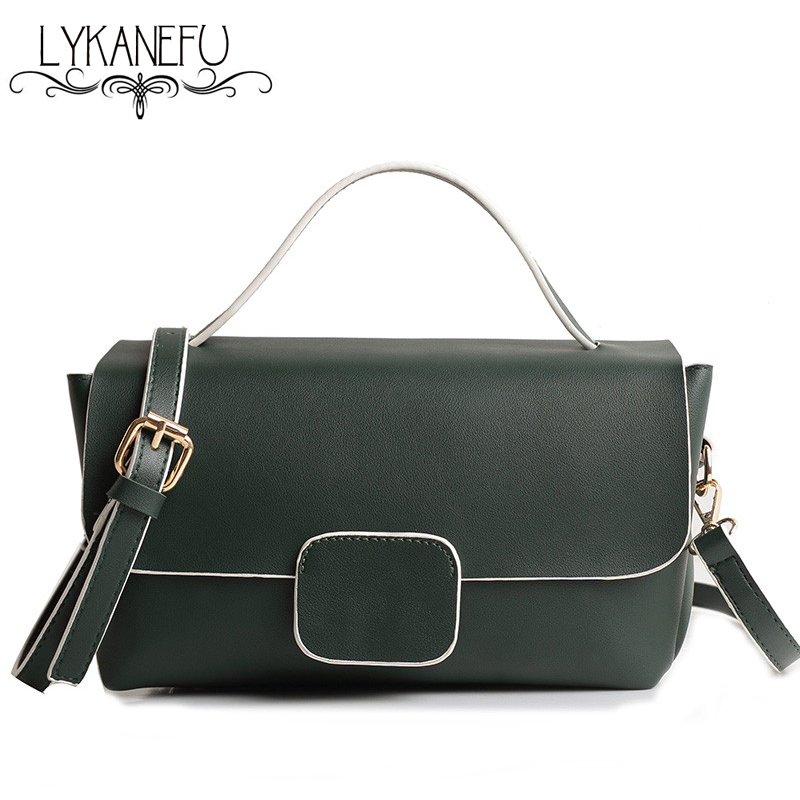 a8fd23bfd25a LYKANEFU Boston Tote Handbags Shoulder Bag Ladies Purse Casual Women Handbag  Satchel Designer Long Strap Sac A Main De Marque-in Top-Handle Bags from ...