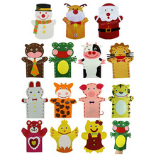 wholesale Craft Kit Non-woven Felt Hand Puppet for Kids DIY craftwork gift - 40sets/lot mixed design free shipping
