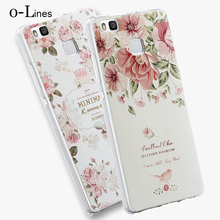High Quality Soft TPU 3D Relief Painting Stereo Feeling Back Cover Case For Huawei P9 Lite G9 Phone Bag For Huawei P9 Case Coque