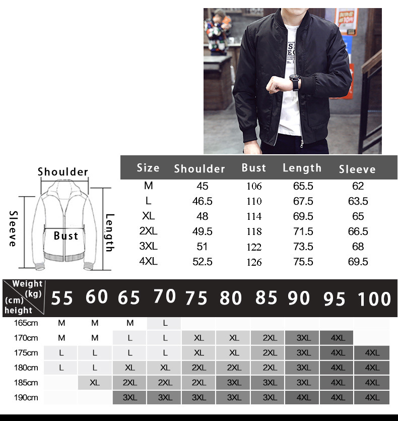 72576a7ba84 FALIZA Fashion Male Jacket Coat Men 2018 Spring Autumn Bomber Jacket ...