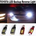 2-4pcs Error Free Canbus For Toyota Highlander CROWN Camry Rav4 Alphard CorolalAdditional Auto Car LED Backup Reverse Light bulb