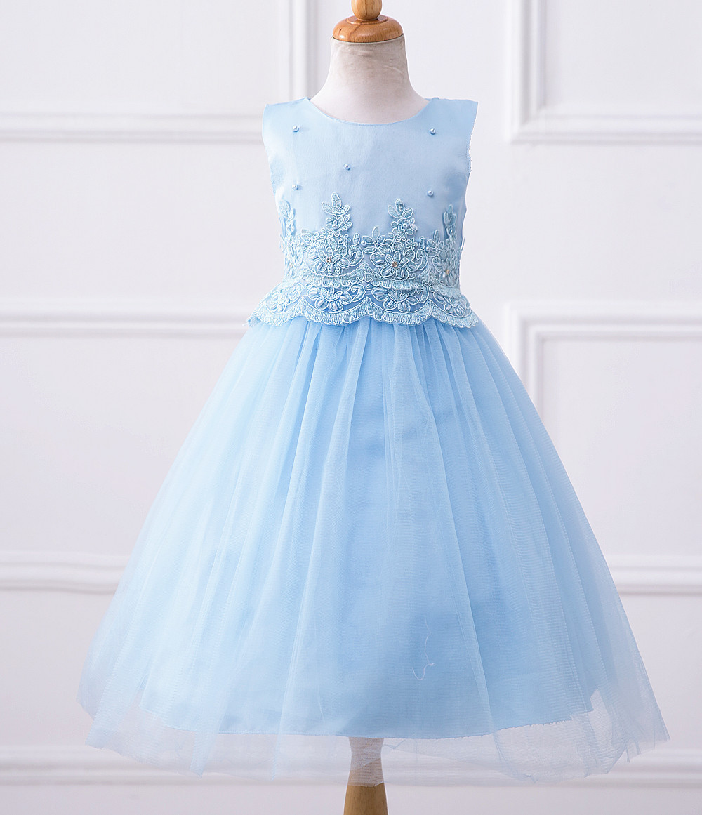 Blue christmas dress 4t - 2017 New Cute Girls Dresses For Christmas Party Baby Girls Princess Wedding Dress For Children Party Clothes Vestido Clothing