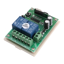 DC 12V 2 Channel RF 433MHz Wireless Remote Control Switch Relay Receiver Module dc 12v 10a single channel wireless relay remote control switch 315mhz 12ch white remote control new arrival sku 5469