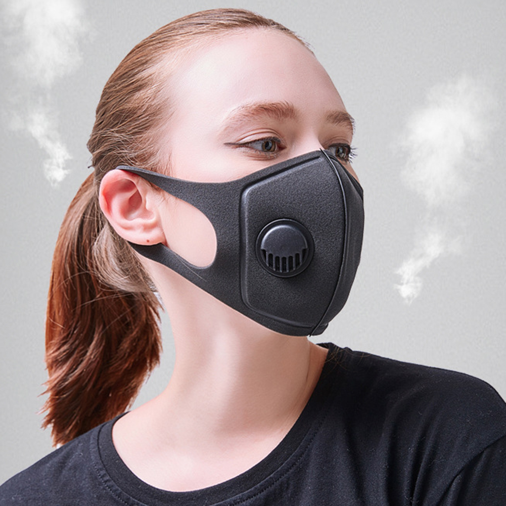 Unisex Mouth Masks Anti Dust Face Mouth Cover Reusable PM2.5 Mask Dustproof  Outdoor Travel Protection With Breath Valve