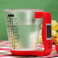 1 шт. Цифровые Кухонные Электронные мерный стакан Весы бытовой кувшин Детские весы с ЖК-дисплей Дисплей измерения температуры 16x12.5x13.5 см