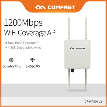 Comfast High Power 1200Mbps Dual Band 2.4&5.8GHz WiFi Signal Hotspot Amplifier Repeater Long Range Wireless Access Point WA800V2