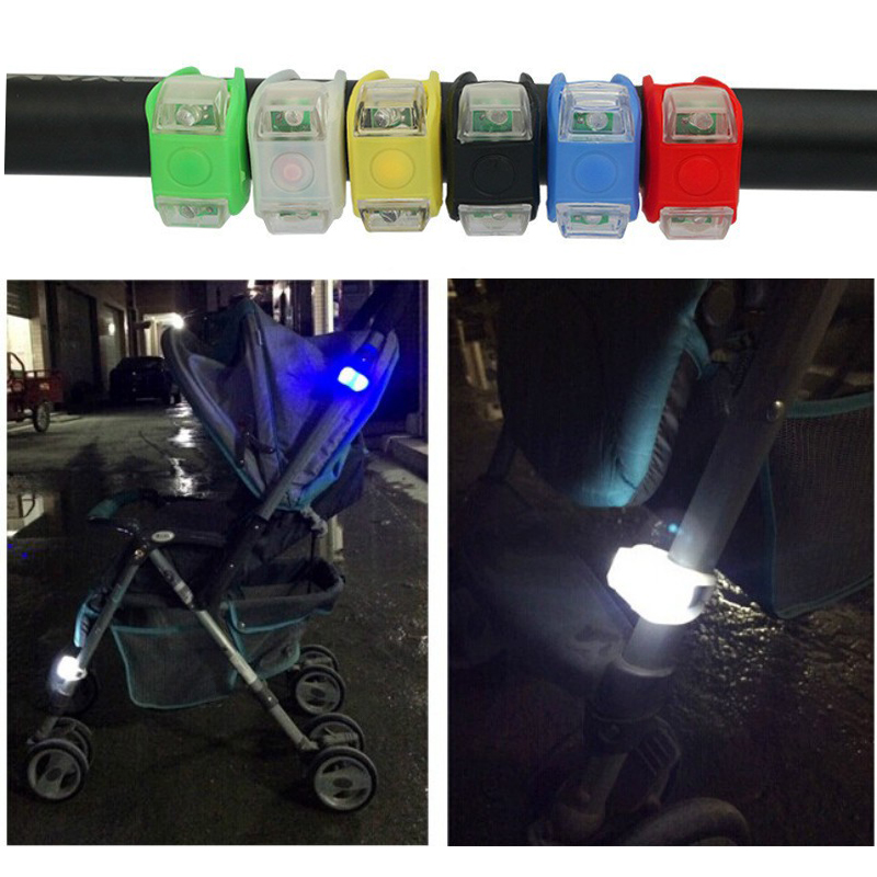 2PCS Baby Stroller Night Light Waterproof Silicone Caution Lamp Outdoor Security Safety Alert LED Flash Remind Caution Lamp