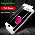 9 h completo cubierta de la pantalla de vidrio templado para iphone 7 7 plus Protector de Vidrio Templado para i7 i7 + Anti Shatter Protector de Color película