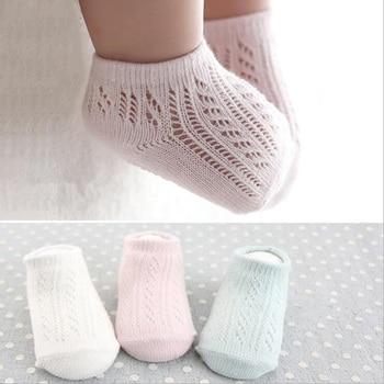 3Pair/lot New spring and summer mesh openwork non-slip baby toddler socks