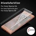 3D Изогнутые Поверхности Полное Покрытие Для Sony Xperia XA F3111 XA плюс XP Закаленное Стекло-Экран Протектор Фильм Для Sony XA Случае