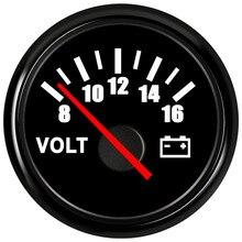 Spannung Volt Meter Gauge 8-16 Volt Caravan Boot Instrumente Marine Voltmeter Für Auto Teile Auto Gauges Weiß 52mm Motorrad