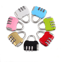 ONUS 3 Dial Digit Password Combination Padlock Suitcase Luggage Metal Code Lock locker  Mini Coded Keyed Anti-Theft Locks rarelock 5 letters code combination password lock door box gym locks suitcase luggage bicycle locks a