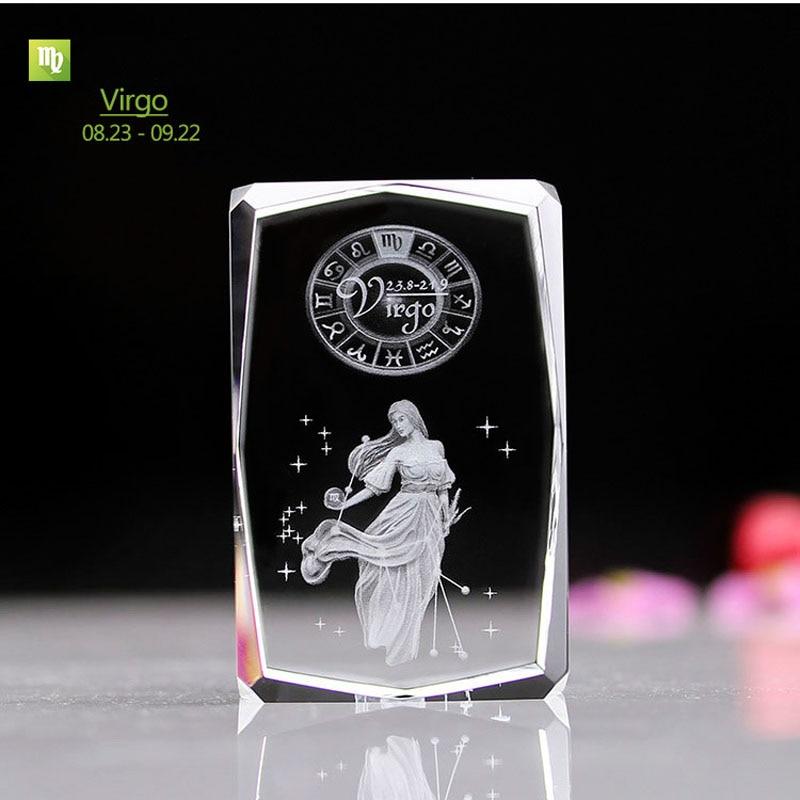 Virgo Engraved Crystal Table Lamp Led with Multi Color Light Base Kids Baby Bedside Led Night Light For Bedroom Novelty Gifts